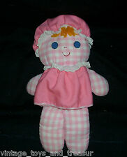 "12"" VINTAGE FISHER PRICE LOLLY DOLLY PINK RATTLE 420 STUFFED ANIMAL PLUSH TOY"