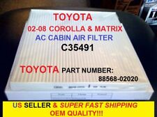 CABIN AIR FILTER FOR TOYOTA COROLLA MATRIX 03-08  OEM QUALITY