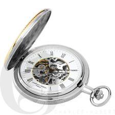 Charles Hubert 3859 Two-tone Mechanical Pocket Watch