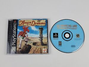 Azure Dreams (Sony Playstation) PS1 Complete Manual & Disc are MINT US Version