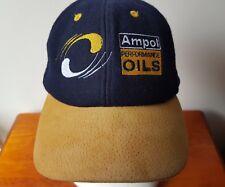 Vintage Ampol Performance Oil Hat Cap Wool Suede Automotive Australian Products