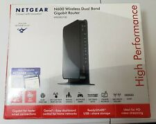 NETGEAR N600 DUAL BAND WIRELESS ROUTER   WNDR3700 with Power Source -Tested