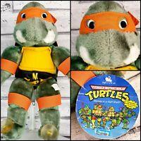 """TMNT 1988 13"""" SUCTION CUPS Mikey Teenage Mutant Ninja Turtles Plush Vintage"""