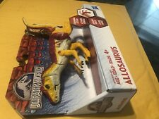 Jurassic World Chomping Attack Allosaurus Yellow Red Battle Damage New