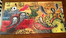 "Spirit Factory Graffiti Artwork Plywood OOAK 32"" x 18"" Signed Abstract Art Ghost"