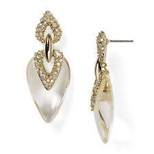 Alexis Bittar Transparent Lucite Swarovski Crystal Encrusted Drop Earrings $245