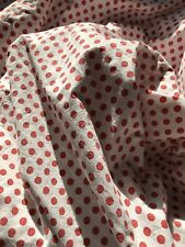 RALPH LAUREN RED & WHITE POLKA DOTS FULL FLAT SHEET  100% COTTON