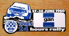 1980 Ypres 24 Hours Rally Belgium Fiat Motorsport Sticker / Decal