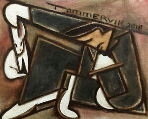 Tommervik Vintage Rabbit Out Of Hat Magic Trick Magician Art Classic Painting
