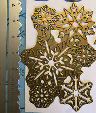 RARE AUTHENTIC ANNA GRIFFIN XL BACKGROUND SNOWFLAKE CLUSTER CARD CHRISTMAS DIE