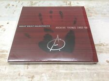 MEAT BEAT MANIFESTO - ARCHIVE THINGS 1982-88 Perennial Divided-Purged signed 2CD