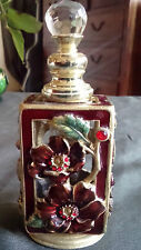 FLACON DE PARFUM STYLE ART DECO PERFUME BOTTLE ENAMEL