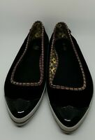 Women's Keds 7.5 Black Retro Point Toe Slip-Ons