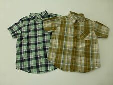 2 Piece Gymboree Boys 3T Plaid Button Front Shirt Lot Great Condition