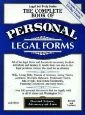 The Complete Book of Personal Legal Forms: Second Edition with Forms-ExLibrary
