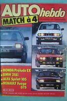 revue 1983 RENAULT FUEGO GTS / ALFASUD SPRINT 105 / HONDA PRELUDE EX / RALLYES