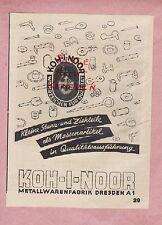 DRESDEN A1, Werbung 1942, Koh-i-noor Metallwaren-Fabrik Puc & Merzinger