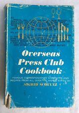 Vintage 1962 Overseas Press Club Cookbook Worn Jacket