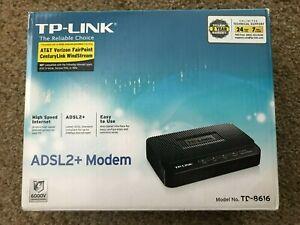 TP-Link ADSL2+ Modem (TD8616) 24 Kbps - Open Box