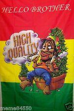 3' x 5' New Rasta Jamaican Hello Brother High Quality  Marijuana  Flag    #03
