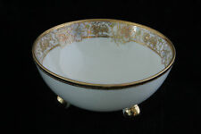 OUTSTANDING ORNATE NIPPON HAND PAINTED 3 FOOTED BOWL MASTER NUT CANDY DISH