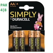 SIMPLY DURACELL AA MN1500 LR6 AAA MN2400 LR03 Batteries 1.5V ALKALINE 1 PACK 4