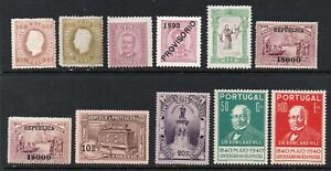Portugal 1869-. Old collection of 11.MH.Very Fine.