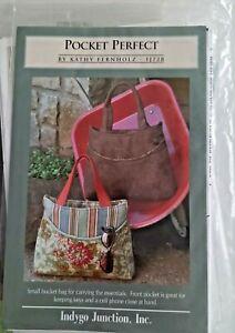 Pocket Perfect handbag tote bucket bag sewing pattern   Good used condition