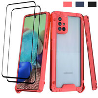For Samsung Galaxy A71 5G Shockproof Case Clear Thin Slim Cover/Screen Protector
