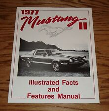 1977 Ford Mustang II Illustrated Facts and Features Brochure Manual 73