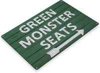 TIN SIGN Green Monster Seats Sign Chicago Cubs Baseball Shop Store Cave A080