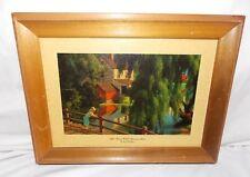 """Vintage Framed Art  Print """"The Good Old Summertime"""" Paul Detlefsen 9"""" x 12"""""""
