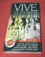 VIVE LA CHANSON - 4CD Box Set - Edith Piaf, Aznavour, Greco, Trenet + NEW SEALED