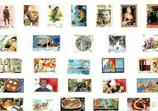 A MIX OF 27 DIFFERENT GOOD/FINE USED COMMEMORATIVE STAMPS FROM MALTA