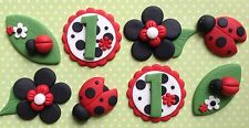 12 Delightful Lady Bug Beetles Set BIRTHDAY CAKES, CUPCAKE TOPPERS, BABY SHOWER