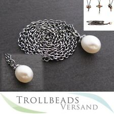 NEU - TROLLBEADS Fantasykette Silber mit Süßwasserperle / Perle 60 cm