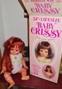 Vintage Ideal Baby Crissy Doll w/Box