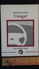 1999 COUGAR  - Original Owner's Guide - Manual
