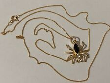 9 ct yellow gold Spider Pendant Necklace, 1,2 g