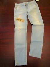 womens jeans seven7 premium jeans 7 nwt icicle light wash distressed  28x31