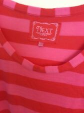 NEXT TUNIC TOP UK16 red and pink stripes