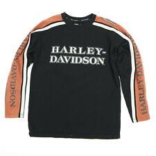Harley Davidson Sweatshirt MEDIUM Embroidered Sleeve Spell Out 105th Anniversary