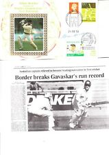 Allan Border Hand Signed Worlds Greatest Test Batsman First Day Cover