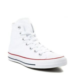 Converse All Star Hi Top WOMENS & MENS Canvas Trainers Shoes - Optical White