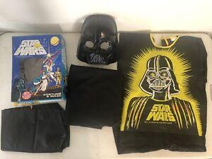 Vintage Star Wars 1977 Ben Cooper Lord Darth Vader Costume & Mask Medium 8-10