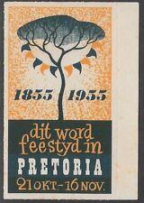 Netherlands Poster stamp: 1855-1955 Pretoria Centennial (afrikaans) - cw52.11