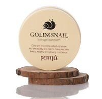 {PETITFEE} Gold & Snail Hydrogel Eye Patch [1.4g x 60ea] - Korea Cosmetic