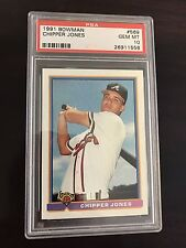 1991 Bowman Chipper Jones Atlanta Braves #569 Rookie Baseball Card PSA 10 Rare