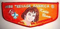 MISS TEENAGE AMERICA KATIE BEAM ORDER OF THE ARROW 1996 NOAC OA FLAP SCOUT PATCH