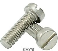 M1 M1.2 M1.4 M1.6 SLOTTED CHEESE HEAD MACHINE SCREWS A2-70 STAINLESS STEEL BOLTS